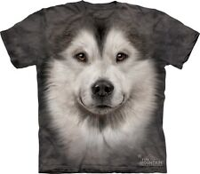 Alaskan Malamute Big Face T-Shirt The Mountain Company. Dog Head Tees S-3XL NEW