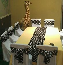 """30 Polka Dot Satin Table Runners 12""""x108"""" Wedding Party Event Decoration Banquet"""