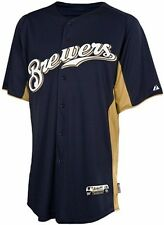 Milwaukee Brewers MLB Majestic Batting Practice Jersey Authentic Adult Sizes