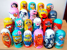 "Russian nesting Dolls ""Disney & TV Characters Collection"" Hand-painted in Russia"