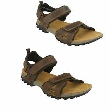 MENS CLARKS LEATHER VELCRO STRAP FLEXIBLE CASUAL SUMMER SANDAL VEXTOR PART FIT G