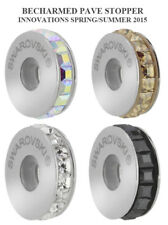 SWAROVSKI 81001 BeCharmed Pave Stopper 13mm Many Colors * Stainless Steel