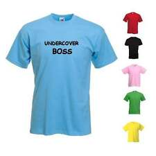 NEW WOMANS MENS UNDERCOVER BOSS NOVELTY FUNNY COOL FUN T-SHIRT GIFT