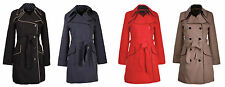 COLLECTION LONDON Womens Ladies Smart Business Spring Mac Trench Coat 8 - 18