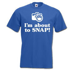 I'm about to snap! PHOTOGRAPHER photo camera funny mens womens unisex t-shirt