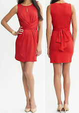 Banana Republic $130.00 Issa Collection Red Wrap-Tie Dress Size 8P,10P,12P,12,14