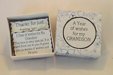 1 Year of Thoughts & Wishes for My Grandson* - Birthday,Wedding, Christmas