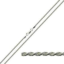 """925 Sterling Silver Ladies 1. 3mm Rope Link Necklace Chain 16 18 20 22 24"""" Inch"""