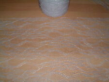 1m x 15cm/30cm LACE FABRIC - WHITE/BLACK/IVORY/COFFEE - TABLE RUNNER/WEDDING