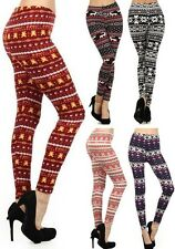 New Woman's Juniors Mixed Print Leggings Sleepwear PJ Bottoms Fashion Central