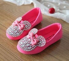 2014 NEW Fall Baby Kids Toddler Girls Bling Rhinestone Bow Candy Soft Flat Shoes