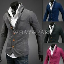 Fashion Men's Casual Slim Stand Collar Buckles Suit Coat Jackets W2128 GBW