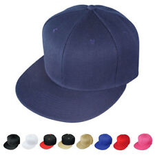 1 DOZEN Blank Flat Bill Vintage 6 Panel Baseball Hats Hat Cap WHOLESALE BULK