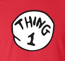 Dr Seuss Cat In The Hat Thing 1-2-3-4-5-6-7 Adult Crew Neck Sweatshirt SM To 4XL