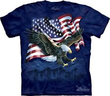 Eagle Talon Flag T-Shirt by The Mountain. USA American Patriotic S-5XL NEW