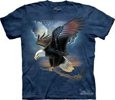 The Patriot T-Shirt by The Mountain Bald Eagle American USA Flag Sizes S-5XL NEW
