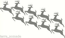 Christmas Reindeer Rudolph Wall Window Stickers Vinyl Decal Decoration x 9 XMAS