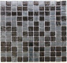 Black Gray with Stripes Mix Glass Mosaic Tile Bathroom, Backsplash 22sq ft box