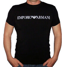 EMPORIO ARMANI Men's Slim fit New Cotton T-shirt in Black - Size M L XL