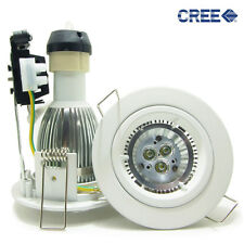 10x 6W CREE LED Downlight Recessed Down ceiling Light kit dimmable round white
