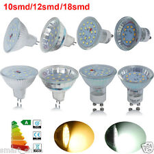 4 10 16x GU10 MR16 3W 5W 10/12/18 SMDs LED Bulbs Warm Day White Light Spotlight
