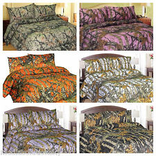 Comforter Camo Bed in a Bag Sheets all Colors All Sizes As Set Or individually