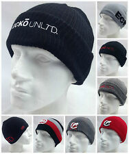 ECKO Unltd Beanie Hat Rhino Warm Winter Pull On Knitted Mens Ski Cap New Knit