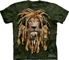 Big Face DJ Jahman Lion T-Shirt by The Mountain. Giant Head Zoo Animal S-5XL NEW