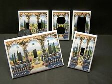 TUSCAN VILLA VINEYARD & FOUNTAIN SO PRETTY LIGHT SWITCH OR OUTLET COVER V337