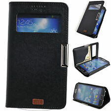 Window S View Leather Case Flip Cover Card Wallet Stand SAMSUNG Galaxy S3 S4