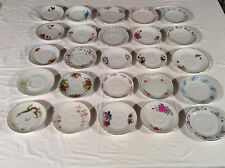 Vintage Bone China Saucers for Tea Cups Plates Wedding Party Mix & Match Flowers