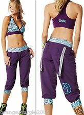 ZUMBA  FITNESS ~2 PIECE SET!~Cargo Cargos CAPRI Capris PANTS & V Sports BRA Top
