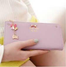 Cute Diamante Clutch Checkbook Money Clip Change Bag Women Purse Handbag Wallet
