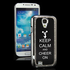 Samsung Galaxy S4 Crystal Bling Rhinestone Hard Case Cover Keep Calm Cheer On