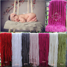Knitted Ripple Design Throw Rug Blanket Fringe Bed Sofa Home Decor Photo Prop