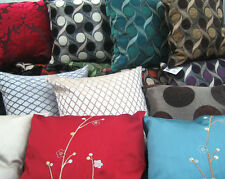 PLAIN OR PRINTED TAPESTRY EMBROIDERED CUSHION COVERS MODERN VINTAGE PRINT