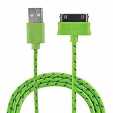 Woven Fabric Braided USB Data Sync Cable charger FOR Apple iphone 4 4S ipod 6