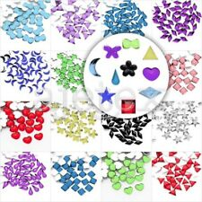About 1000pcs Crystal Flatback Acrylic Rhinestones Beads Wholesale 10 Shapes HOT