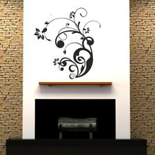 CORNER SWIRL wall sticker stylish flower leaves swirls vine art decal vinyl