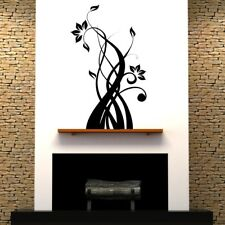 SWIRL FLORAL wall stickers leaf mural transfer decorative stickers decal vinyl