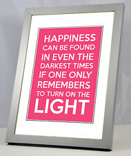 A4  Famous Film Quote Lines Harry Potter , Star Wars Etc Giclee Poster Print UK