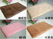 Super Absorbent Flocking Rugs  Bath Non-slip Living Room Mats Solid Rectangle