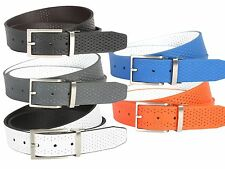 "Nike Golf Tour Performance Perforated Reversible Leather Belt 1-3/8"" Wide"