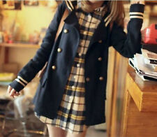 Korean Girl Students Double-Breasted Suit Sailor Suit Trench Coats Jackets