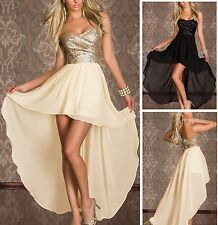 2014 Sequins Long Bridesmaid Dress Evening Prom Dresses Formal Party Ball Gowns