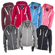 Zip Hoodie Damen Zipper Sweatjacke Jacke Sweater Hoody Zipper Hoodies