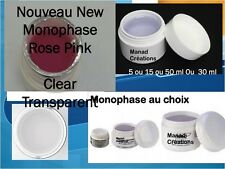 Gel UV monophase 3 en 1 faux ongles base construction finition kit lampe uv nail