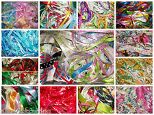 10 x 1 metre or 20 x 1 metres of Lace or Ribbon Off Cuts Assorted Bundle Bag