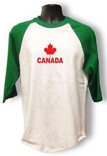 NEW men women Printed CANADA RED LEAF 3/4 Sleeve Funny Raglan BaseBall T-Shirts