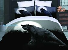 3D Bedding Quilt Doona Duvet Cover Bed Sheet Pillowcase Set - Black Panther Des-